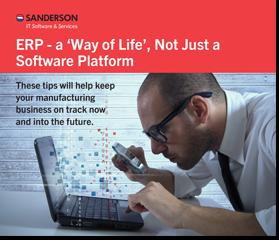 ERP a way of life not just a software platform