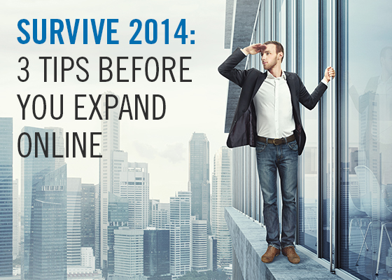 Survive 2014 3 tips before you expand online
