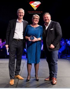 Awards - Jo Baker from MJ Baker receiving an award for Foodservice Operator of the Year.jpg