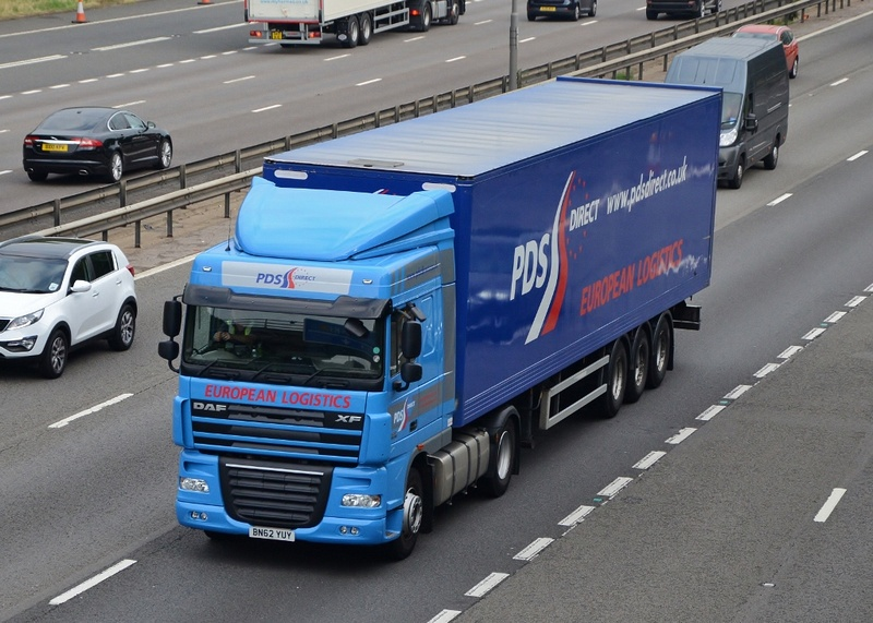 PDS Direct truck driving along a motorway